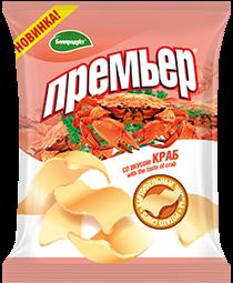 """Чипсы-пеллеты """"Премьер"""" со вкусом краба"""